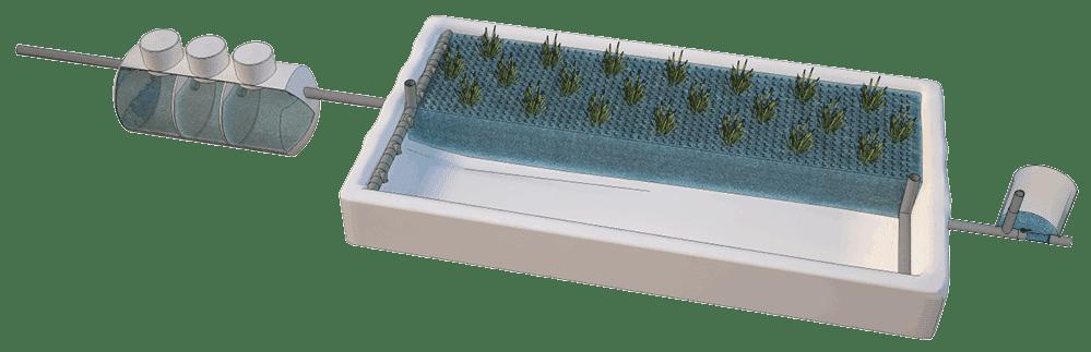 Fitodepuración con material plástico