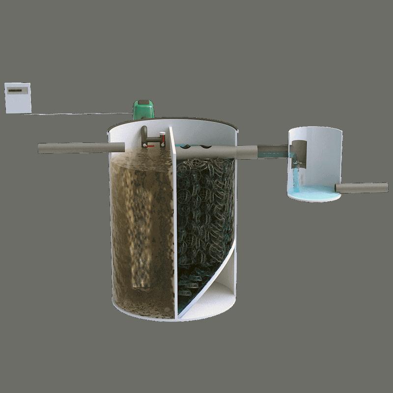 Depuradora compacta para vivienda hasta 5 habitantes
