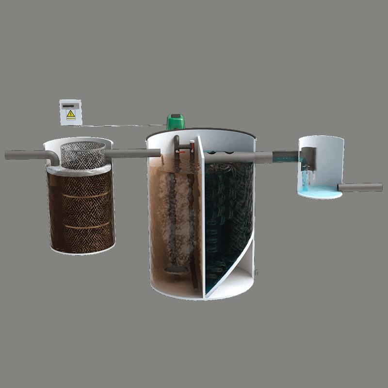 Depuradora domestica para Aguas residuales