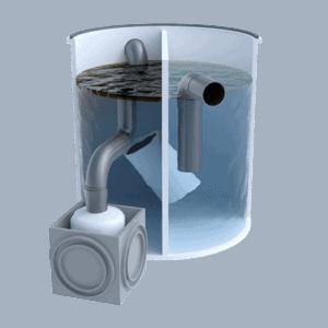 Separador de 500 litros con skimmer