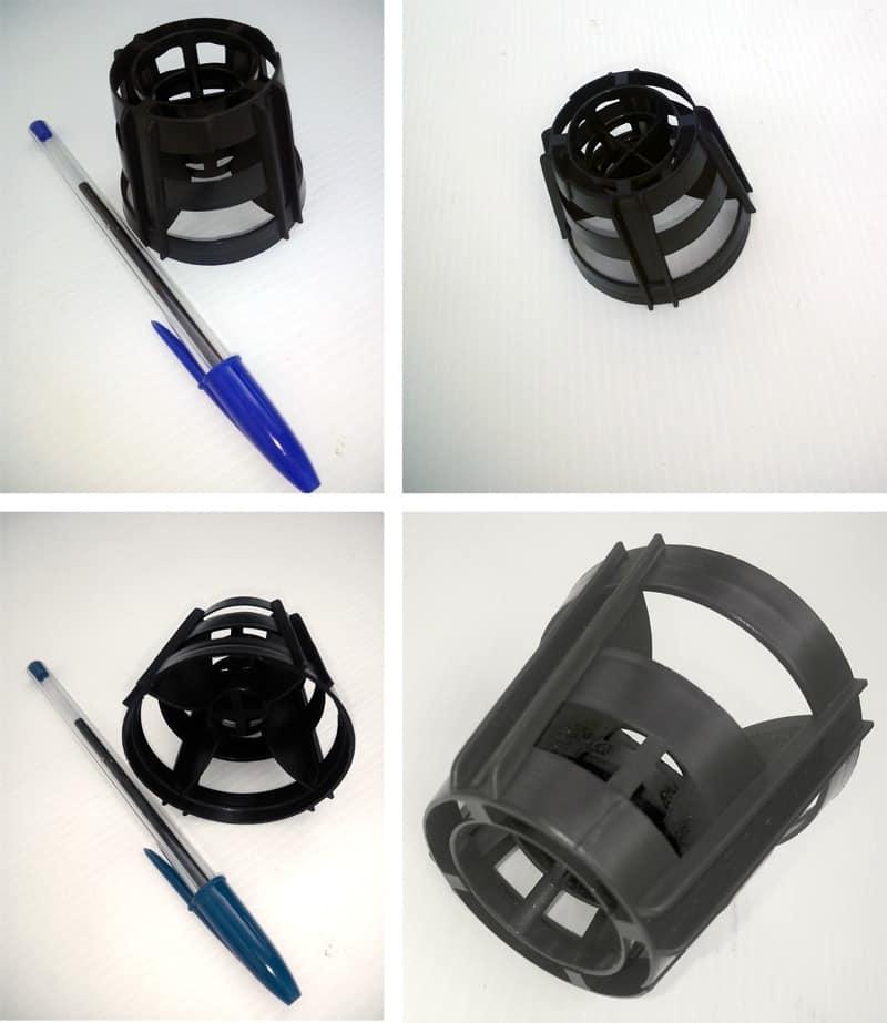 Cuerpos plásticos para tratamientos de desodorización de aire ECO RING.