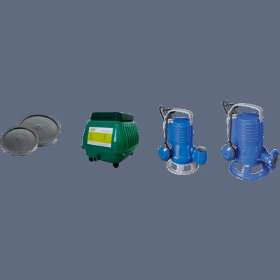 Soplantes, difusores de aire y bombas sumergibles 1