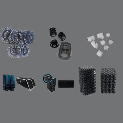 Material plástico de relleno para aguas residuales