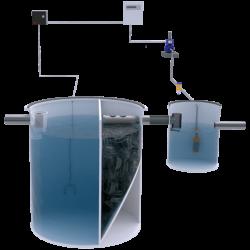 Depuradora aguas grises con bombeo